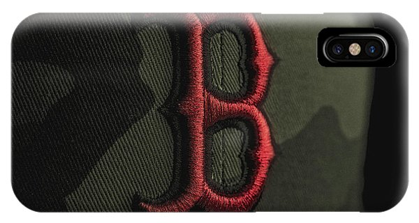 Red iPhone X Case - Boston Red Sox by David Haskett II