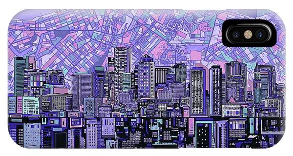 Boston Skyline Abstract IPhone Case
