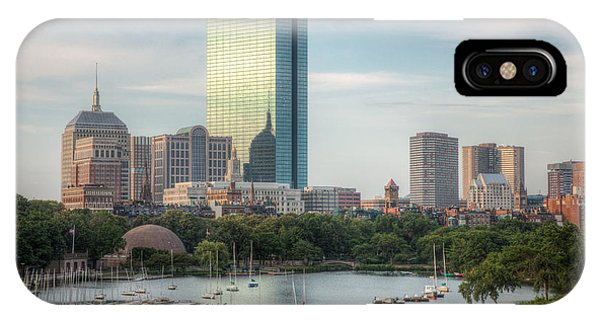 Bean Town iPhone Case - Boston Skyline I by Clarence Holmes