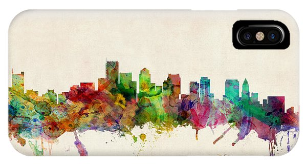 Skyline iPhone Case - Boston Skyline by Michael Tompsett