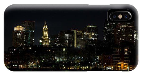 Boston Skyline On An Autumn Night IPhone Case
