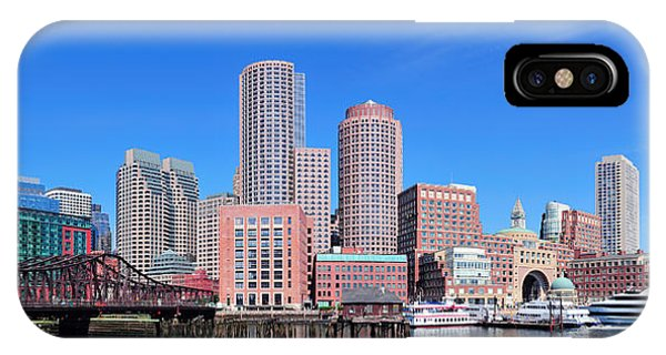 Boston Skyline Over Water IPhone Case