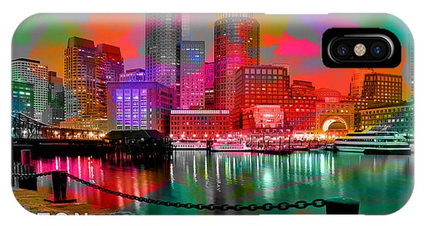 Boston Skyline Painting IPhone Case