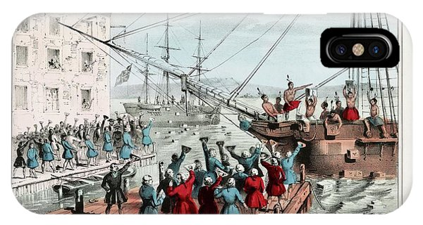 Protest iPhone Case - Boston Tea Party by Library Of Congress/science Photo Library