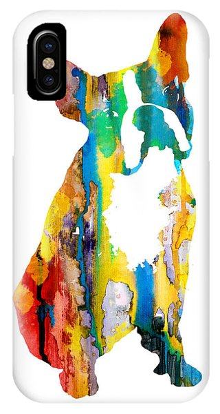 Cute iPhone Case - Boston Terrier 3 by Watercolor Girl
