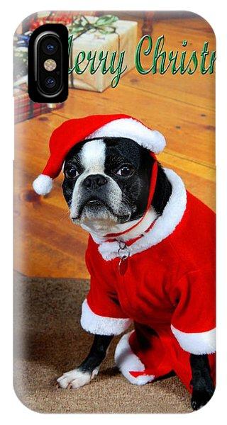 Boston Terrier Christmas IPhone Case