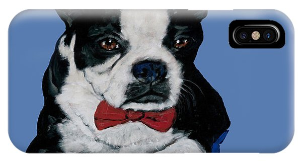 Boston Terrier With A Bowtie IPhone Case