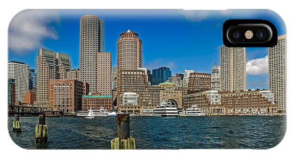 Boston Waterfront Skyline IPhone Case