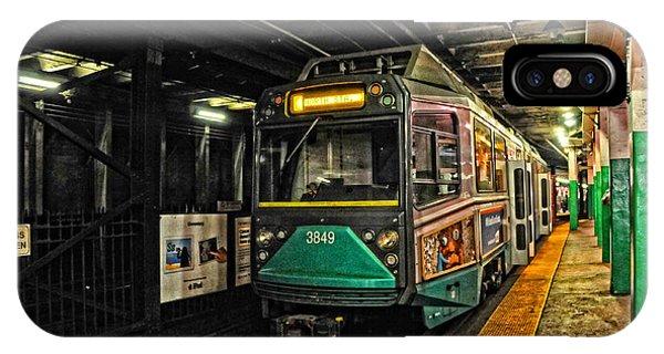 Boston's Mbta Green Line IPhone Case