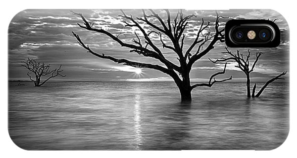 Botany Bay Sunrise 6 Black And White IPhone Case