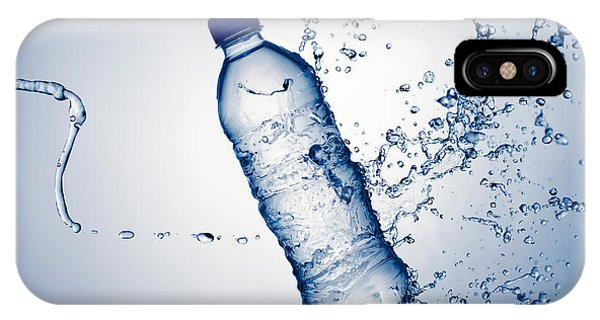 Water Droplets iPhone Case - Bottle Water And Splash by Johan Swanepoel