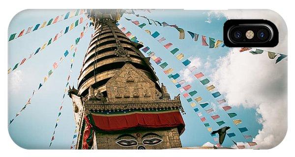Boudhnath Stupa In Nepal IPhone Case