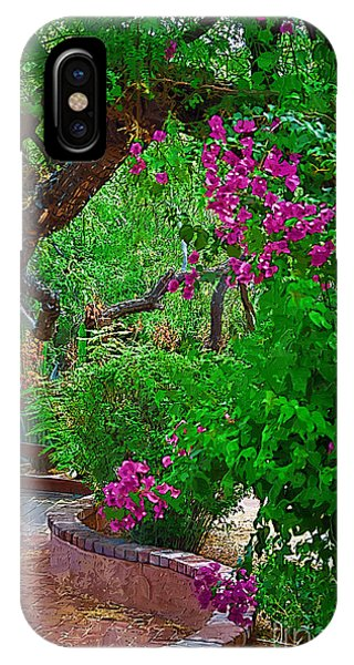 Bougainvillea In The Courtyard IPhone Case