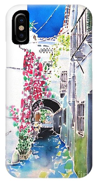 iPhone Case - Bougainvillea Path  by Hisayo Ohta