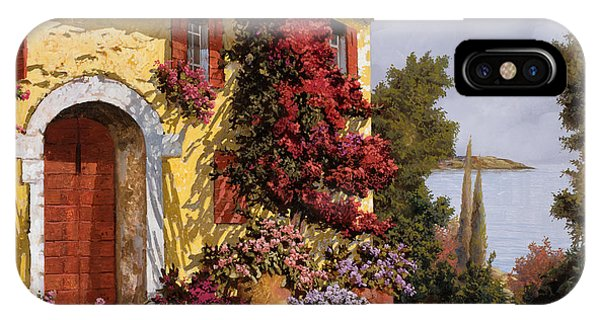 IPhone Case featuring the painting Bouganville by Guido Borelli