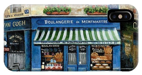 Paris Metro iPhone Case - Boulangerie De Montmartre by Marilyn Dunlap