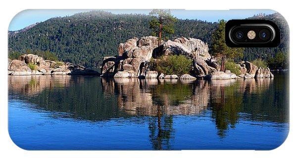 Boulder Island - Big Bear Lake Phone Case by Karey and David Photography
