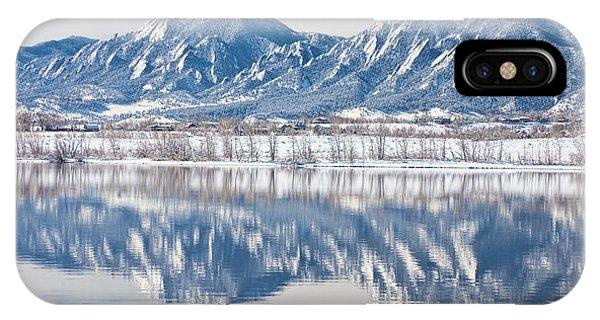 Boulder Reservoir Flatirons Reflections Boulder Colorado IPhone Case
