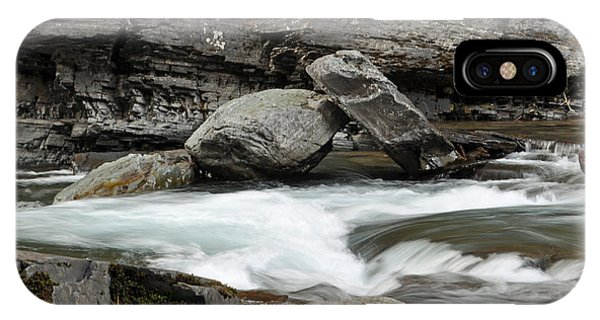 Boulders In Mcdonald Creek IPhone Case