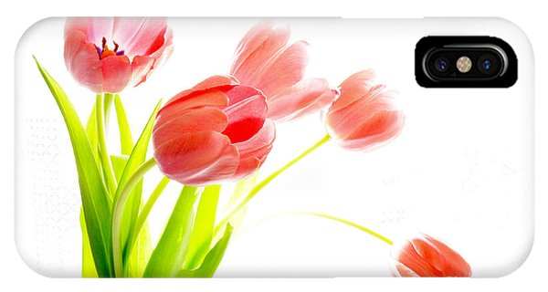 Tulips Flower Bouque In Digital Watercolor IPhone Case
