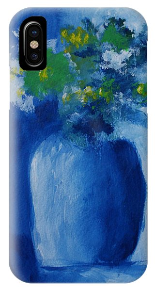 Bouquet In Blue Shadow IPhone Case