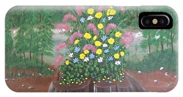 Bouquet On A Stump IPhone Case