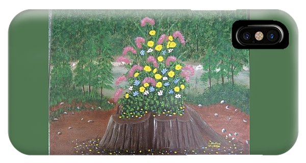 Bouquet On A Stump IPhone Case