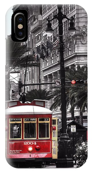 Bourbon And Canal Trolley Cropped IPhone Case
