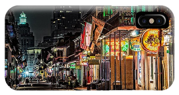 Bourbon Street Glow IPhone Case
