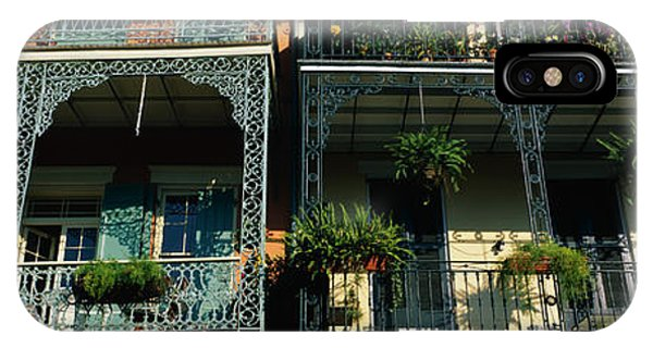 Ironwork iPhone Case - Bourbon Street New Orleans La by Panoramic Images