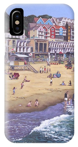 Bournemouth iPhone Case - Bournemouth Boscombe Beach Sea Front by Martin Davey