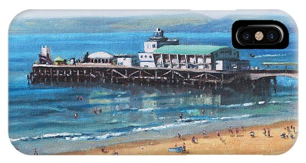 Bournemouth Pier Summer Morning From Cliff Top IPhone Case