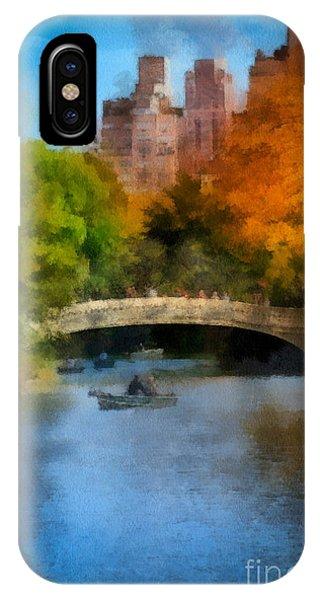 Bow Bridge Central Park IPhone Case