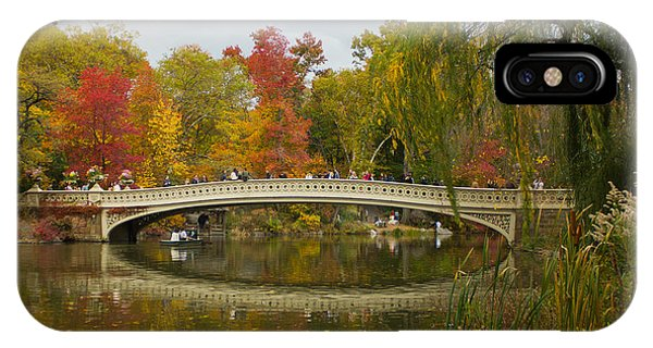 Bow Bridge Central Park Ny IPhone Case