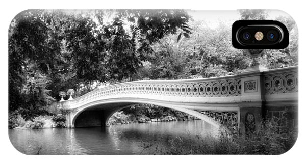 Bow Bridge In Black And White IPhone Case