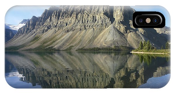 Bow Lake And Crowfoot Mts Banff IPhone Case