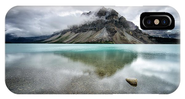 Reflection iPhone Case - Bow Lake by Andrea Auf Dem