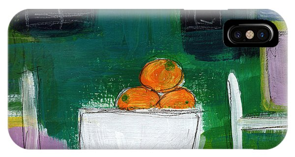 Bowl Of Oranges- Abstract Still Life Painting IPhone Case