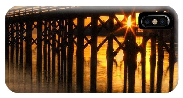 Scenic iPhone Case - Bowman Bay Pier  #sunset by Mark Kiver