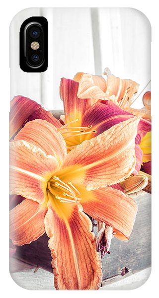 Lilly iPhone Case - Box Of Day-lily  by Edward Fielding