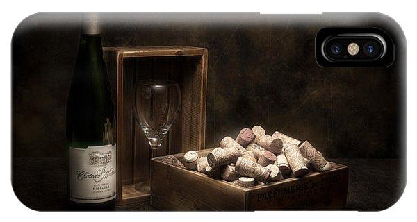 Vino iPhone Case - Box Of Wine Corks Still Life by Tom Mc Nemar