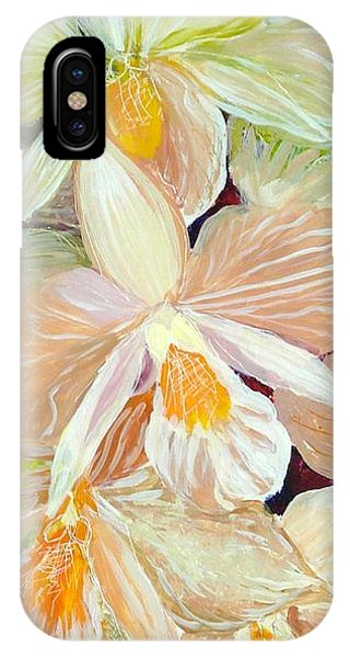 Boxed Orchids Detail IPhone Case
