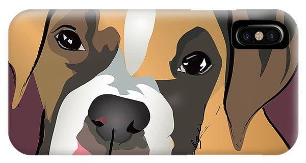 Boxer Puppy Pet Portrait  IPhone Case