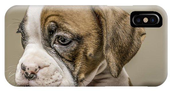 Boxer Puppy Phone Case by Tony Moran