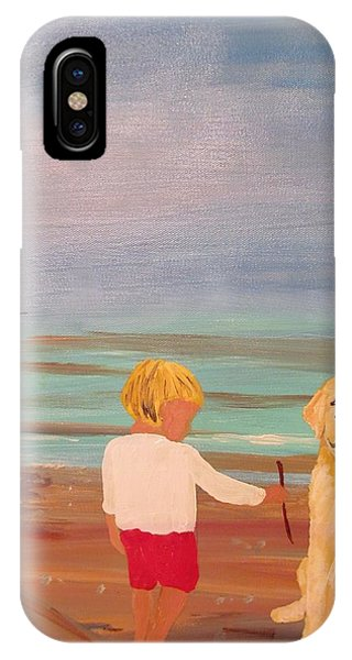 Boy And Dog IPhone Case