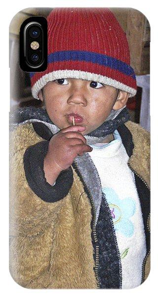 Boy Eating Quail Egg - Cusco Peru IPhone Case