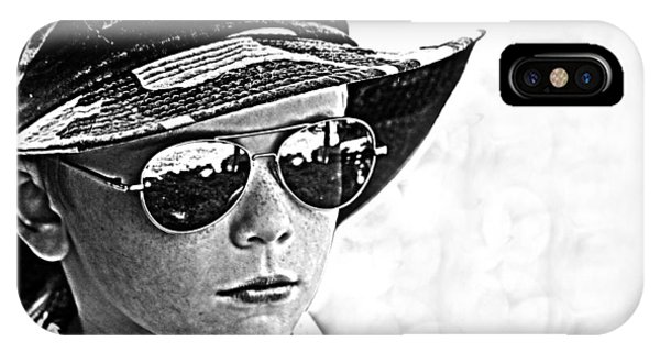 IPhone Case featuring the photograph Boy In Aviators by Kelly Hazel