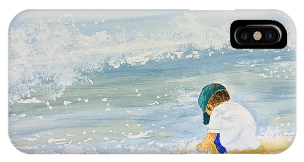 Boy On The Beach IPhone Case