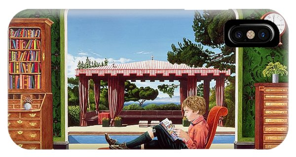 Chaise iPhone Case - Boy Reading by Anthony Southcombe