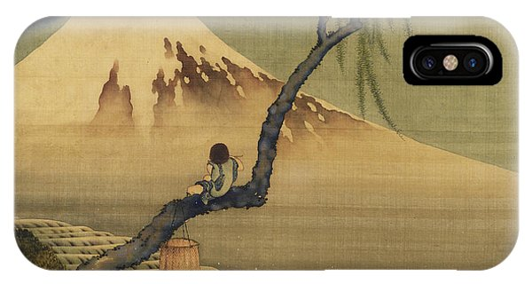 Boy Viewing Mount Fuji IPhone Case